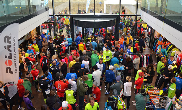 Marathon runners in the Johannesbad Atrium